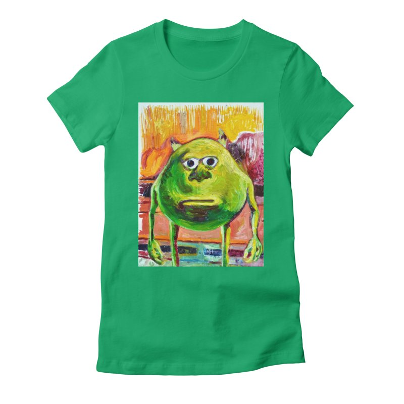 monsters inc Women's Fitted T-Shirt by paintings by Seamus Wray