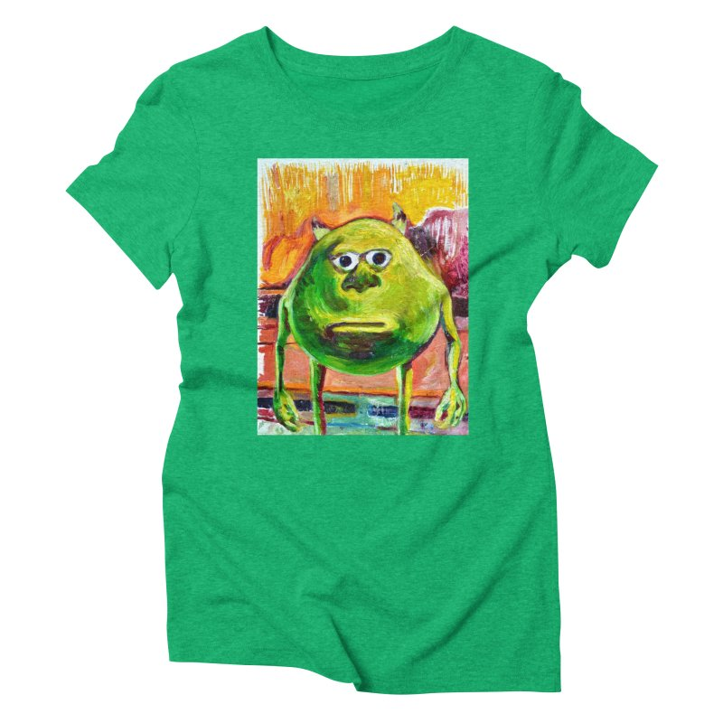 monsters inc Women's Triblend T-Shirt by paintings by Seamus Wray