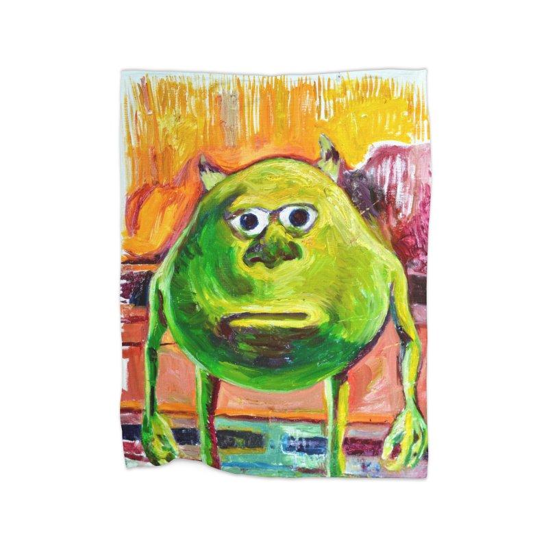 monsters inc Home Fleece Blanket Blanket by paintings by Seamus Wray