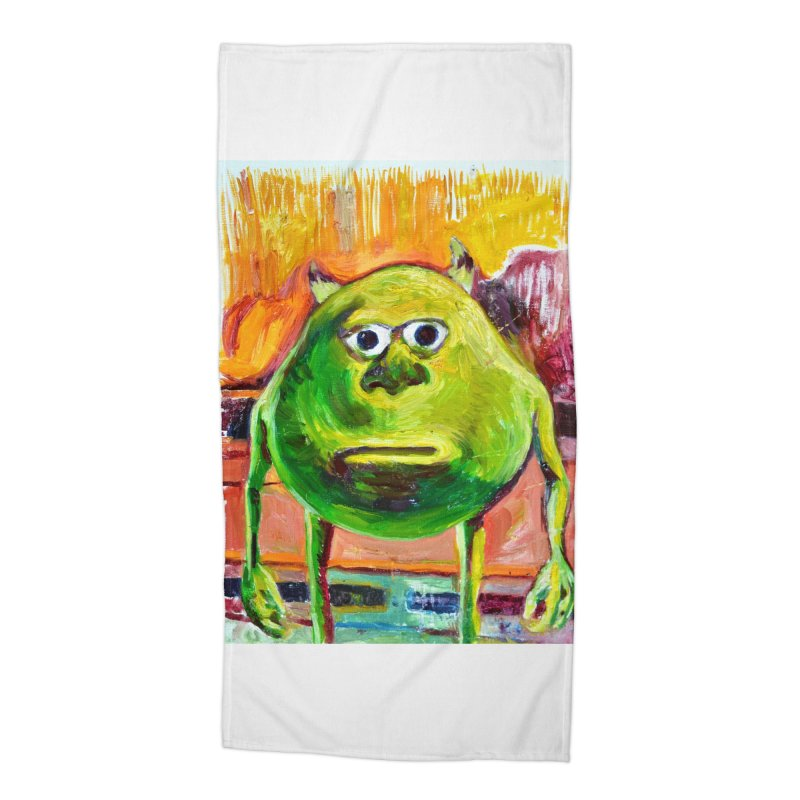 monsters inc Accessories Beach Towel by paintings by Seamus Wray