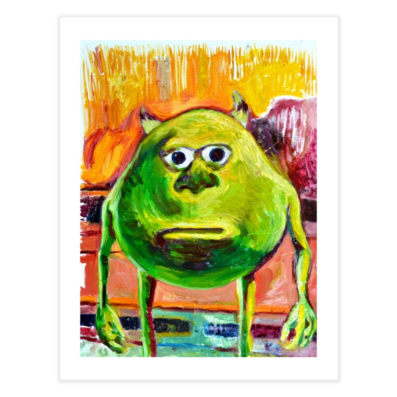 monsters inc Home Fine Art Print by paintings by Seamus Wray