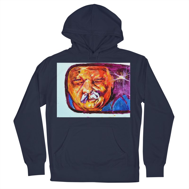 plug it up Women's French Terry Pullover Hoody by paintings by Seamus Wray