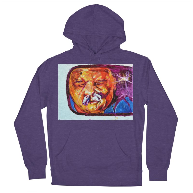 plug it up Men's French Terry Pullover Hoody by paintings by Seamus Wray