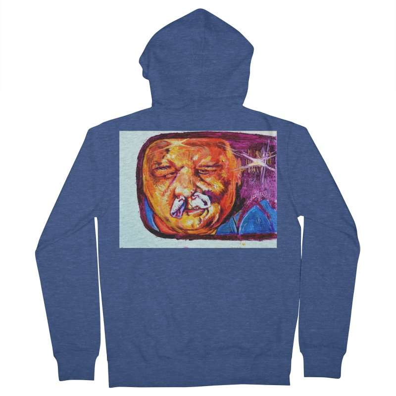 plug it up Women's French Terry Zip-Up Hoody by paintings by Seamus Wray