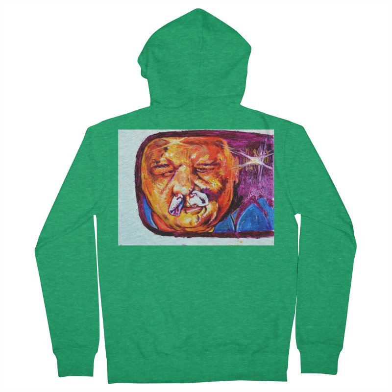 plug it up Men's French Terry Zip-Up Hoody by paintings by Seamus Wray