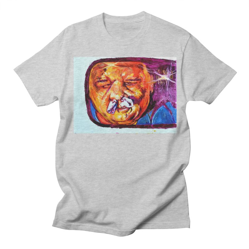 plug it up Men's Regular T-Shirt by paintings by Seamus Wray