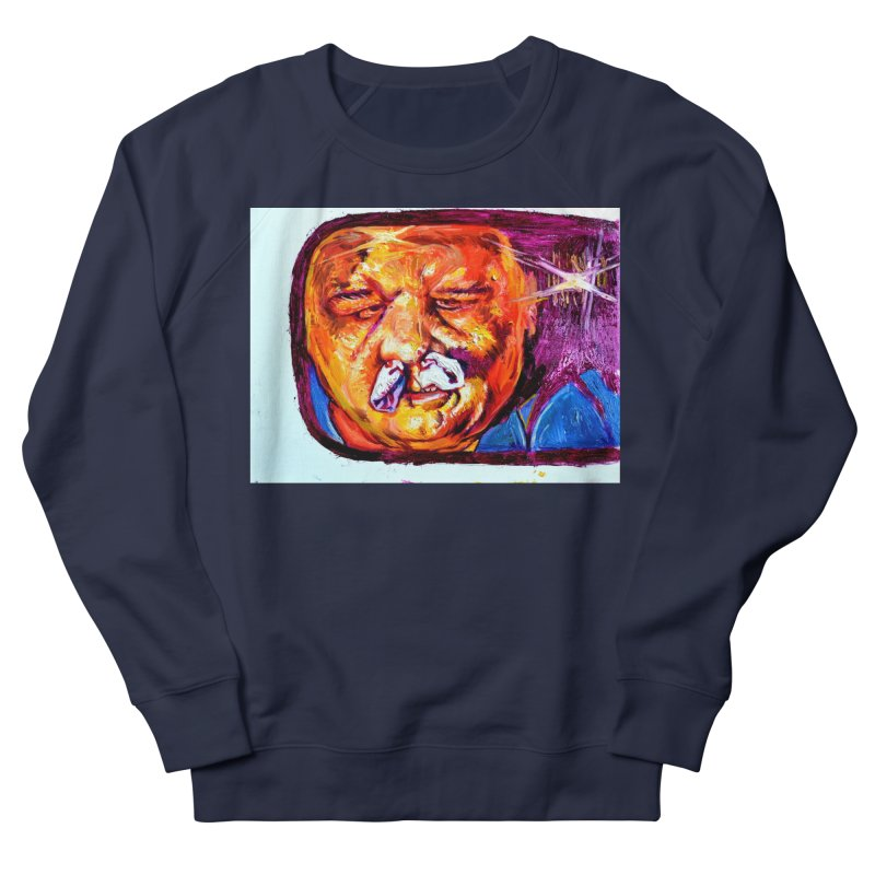 plug it up Men's French Terry Sweatshirt by paintings by Seamus Wray