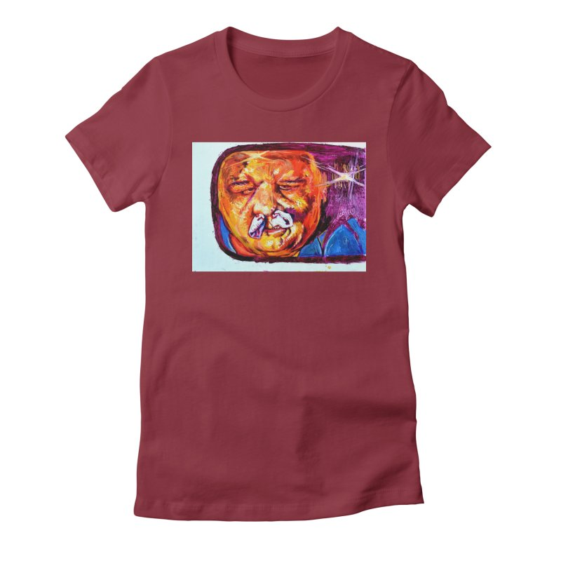 plug it up Women's Fitted T-Shirt by paintings by Seamus Wray
