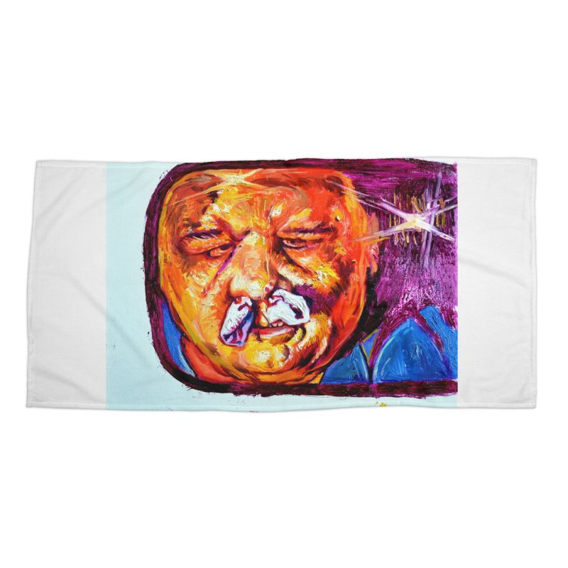plug it up Accessories Beach Towel by paintings by Seamus Wray