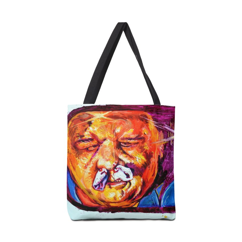 plug it up Accessories Tote Bag Bag by paintings by Seamus Wray