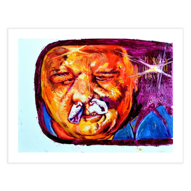 plug it up Home Fine Art Print by paintings by Seamus Wray