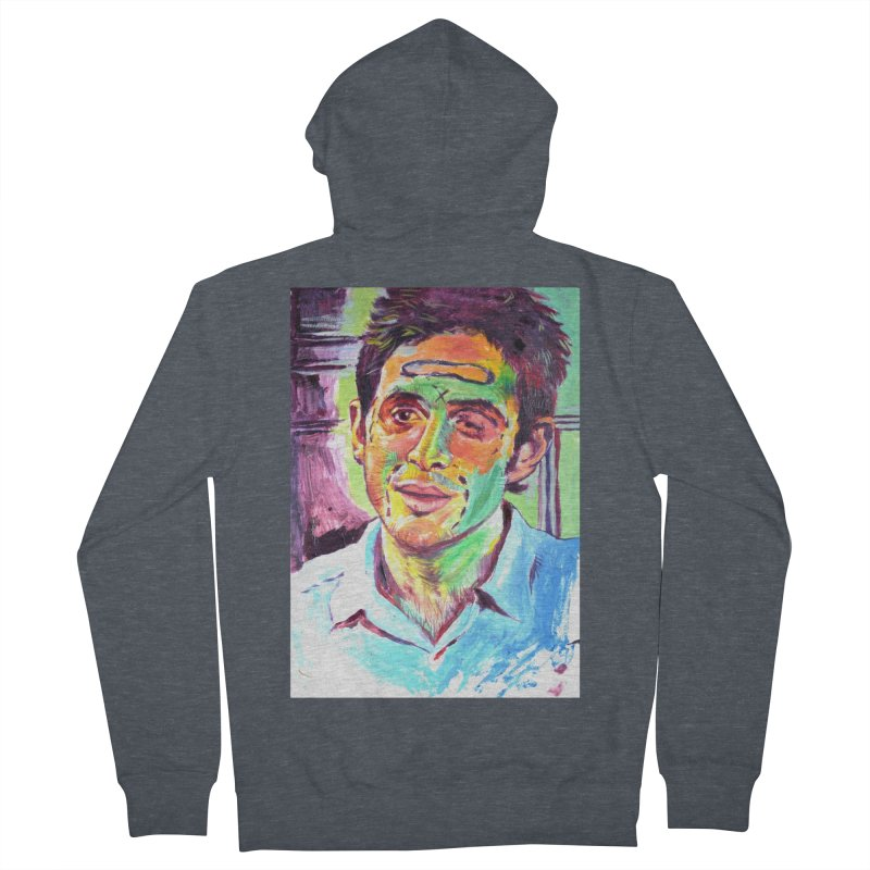 injection Men's French Terry Zip-Up Hoody by paintings by Seamus Wray