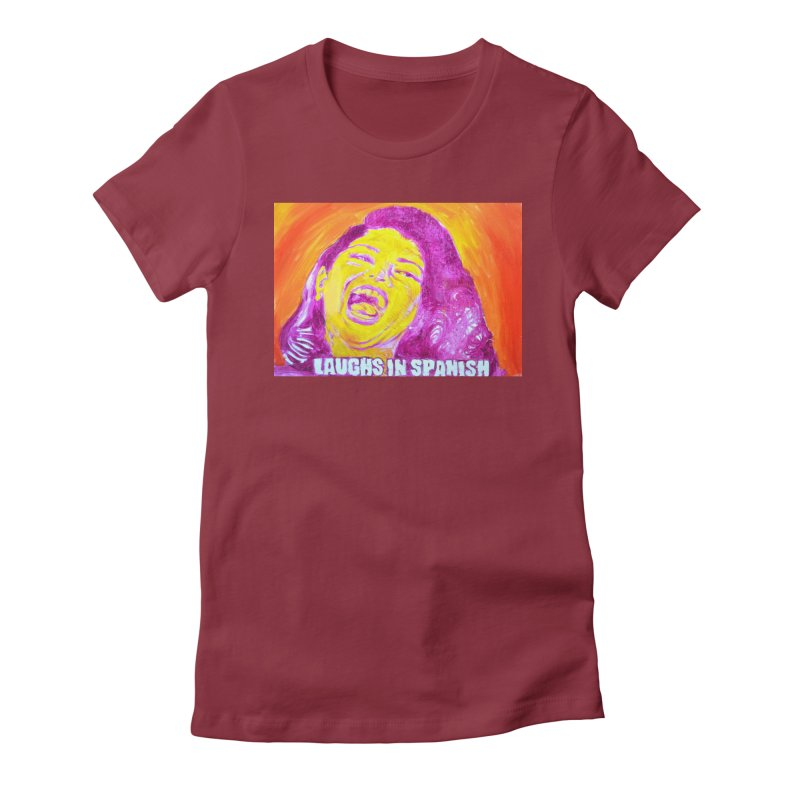 laughs Women's Fitted T-Shirt by paintings by Seamus Wray