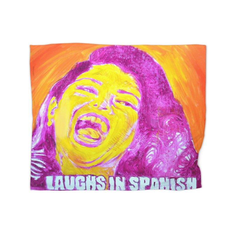 laughs Home Fleece Blanket Blanket by paintings by Seamus Wray