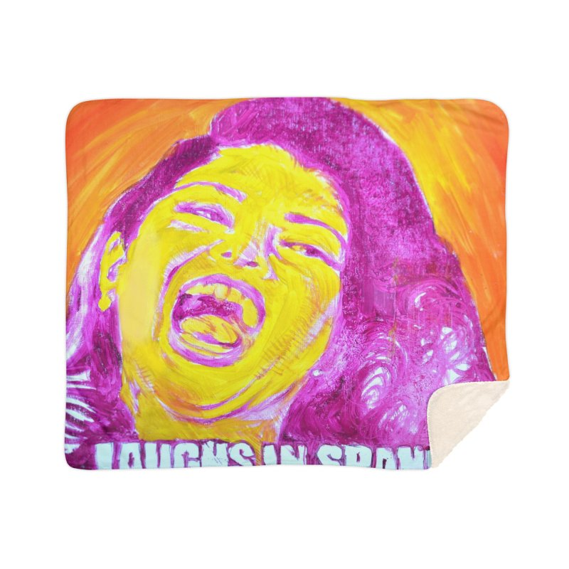 """laughs Home Sherpa Blanket Blanket by Art Prints by Seama available under """"Home"""""""