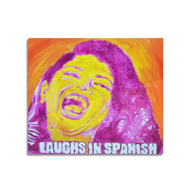 """laughs Home Mounted Aluminum Print by Art Prints by Seama available under """"Home"""""""
