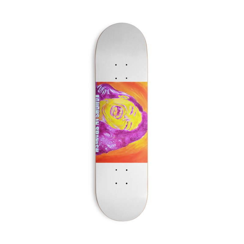 laughs Accessories Deck Only Skateboard by paintings by Seamus Wray