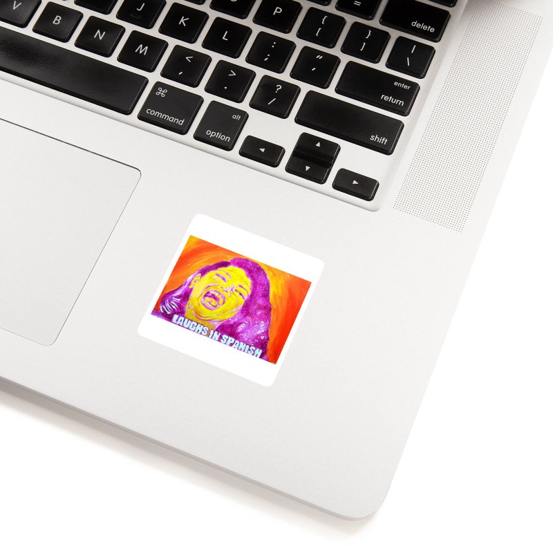 """laughs Accessories Sticker by Art Prints by Seama available under """"Home"""""""