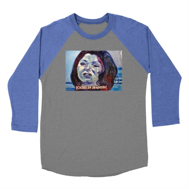 "cries Women's Baseball Triblend Longsleeve T-Shirt by Art Prints by Seama available under ""Home"""
