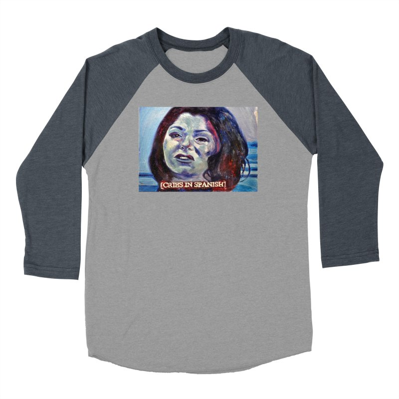"cries Men's Baseball Triblend Longsleeve T-Shirt by Art Prints by Seama available under ""Home"""