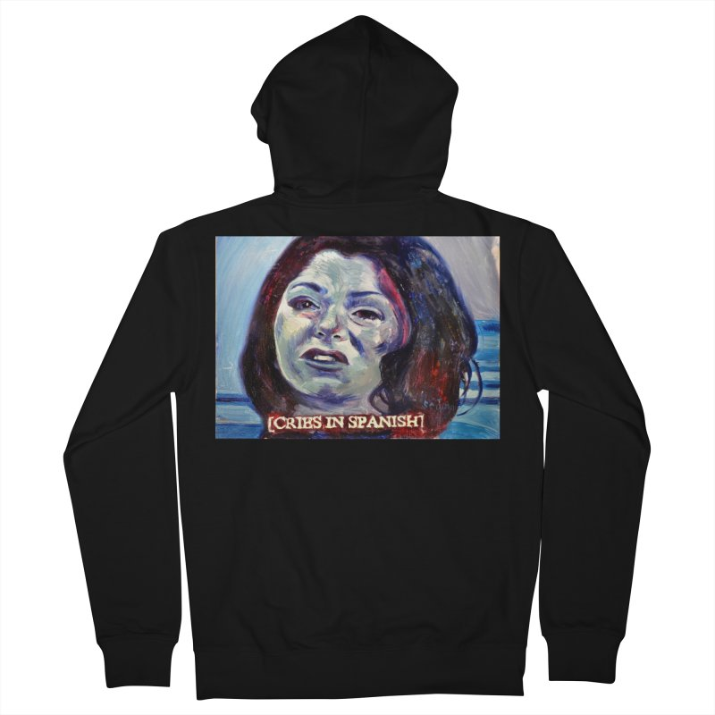"""cries Women's French Terry Zip-Up Hoody by Art Prints by Seama available under """"Home"""""""