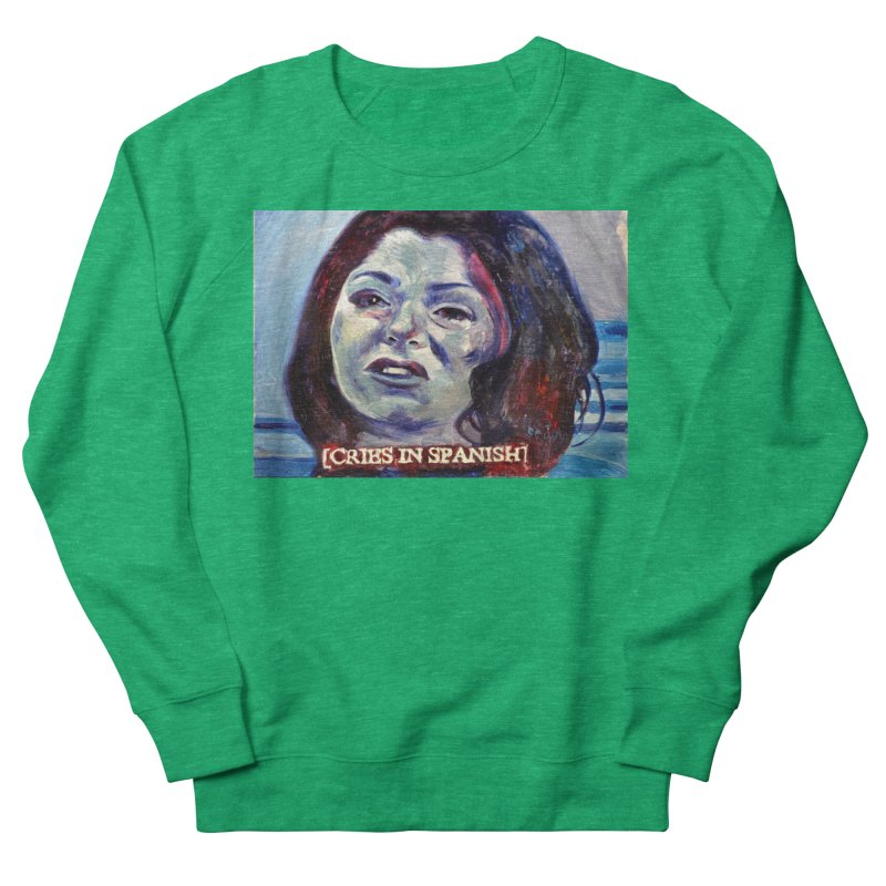 cries Men's French Terry Sweatshirt by paintings by Seamus Wray