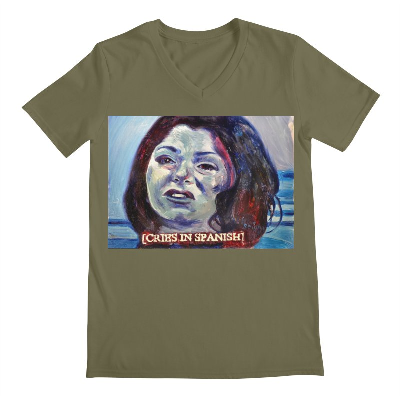 "cries Men's Regular V-Neck by Art Prints by Seama available under ""Home"""