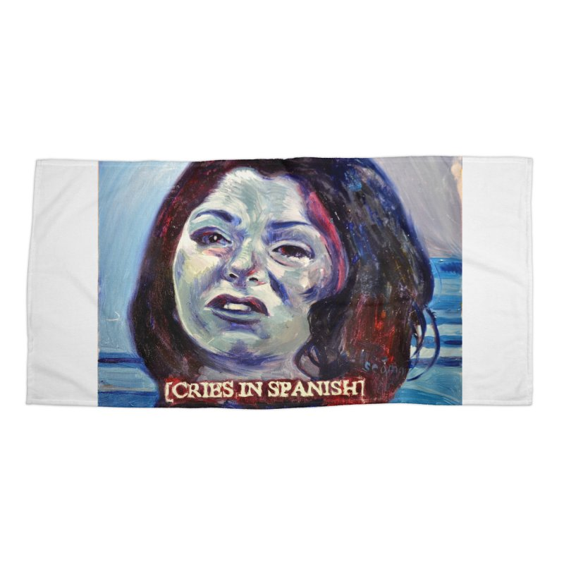 cries Accessories Beach Towel by paintings by Seamus Wray