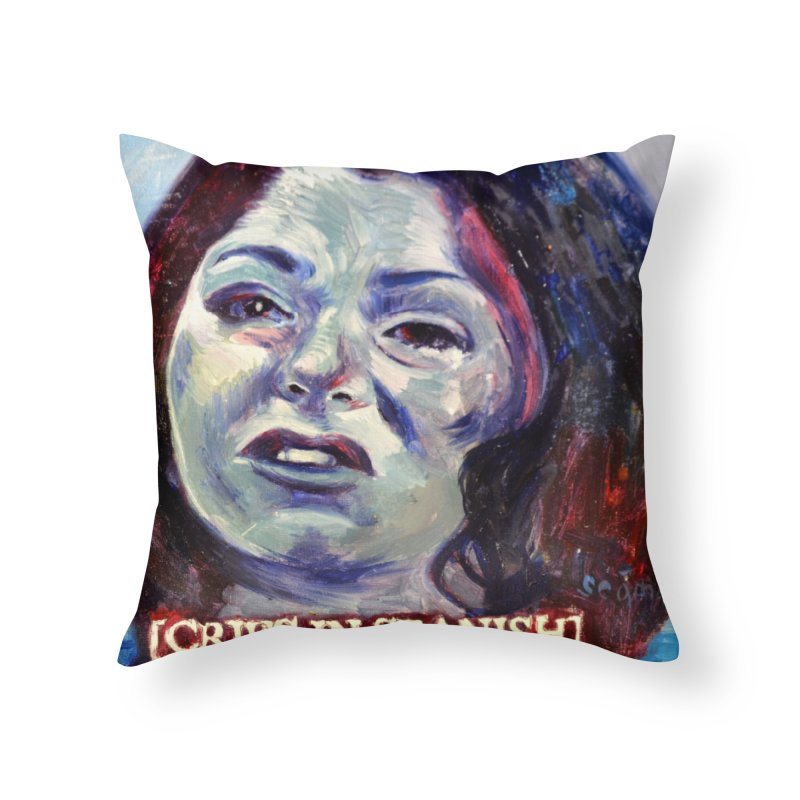 "cries Home Throw Pillow by Art Prints by Seama available under ""Home"""