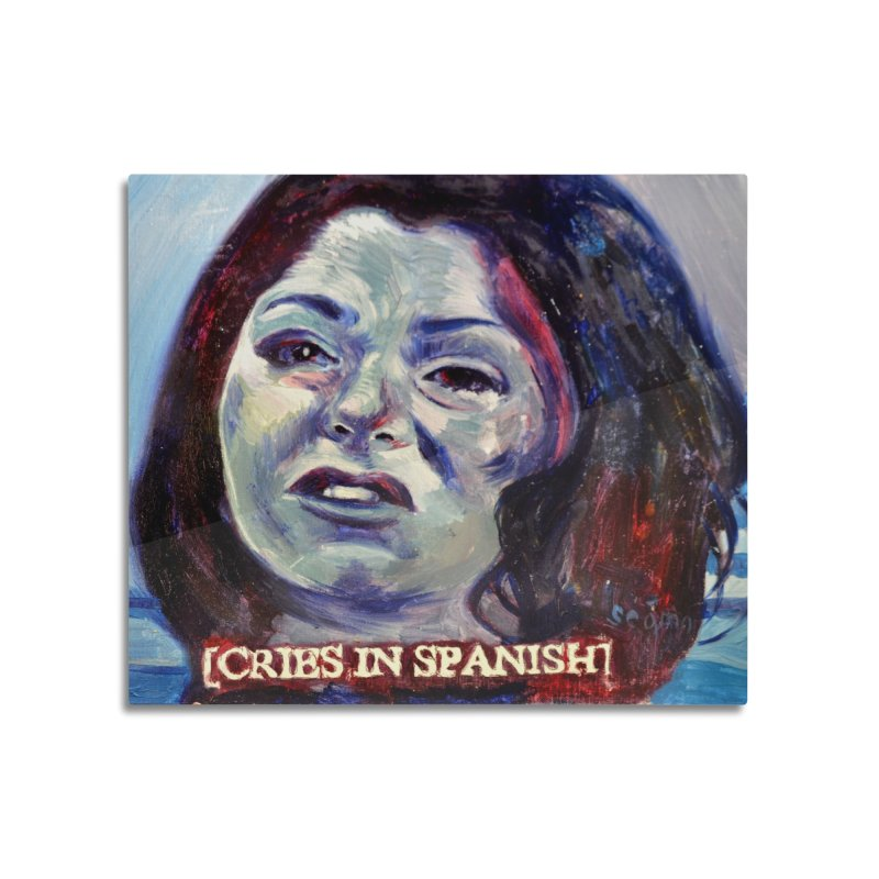 """cries Home Mounted Aluminum Print by Art Prints by Seama available under """"Home"""""""