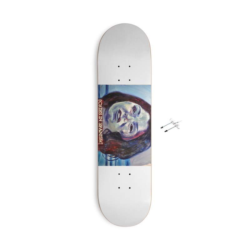 "cries Accessories With Hanging Hardware Skateboard by Art Prints by Seama available under ""Home"""