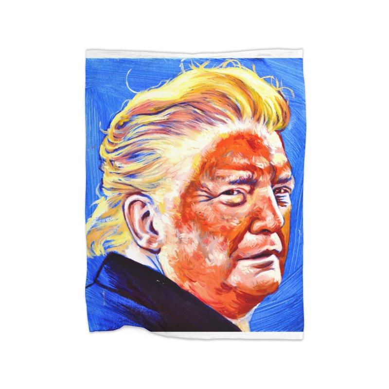 orange Home Fleece Blanket Blanket by paintings by Seamus Wray