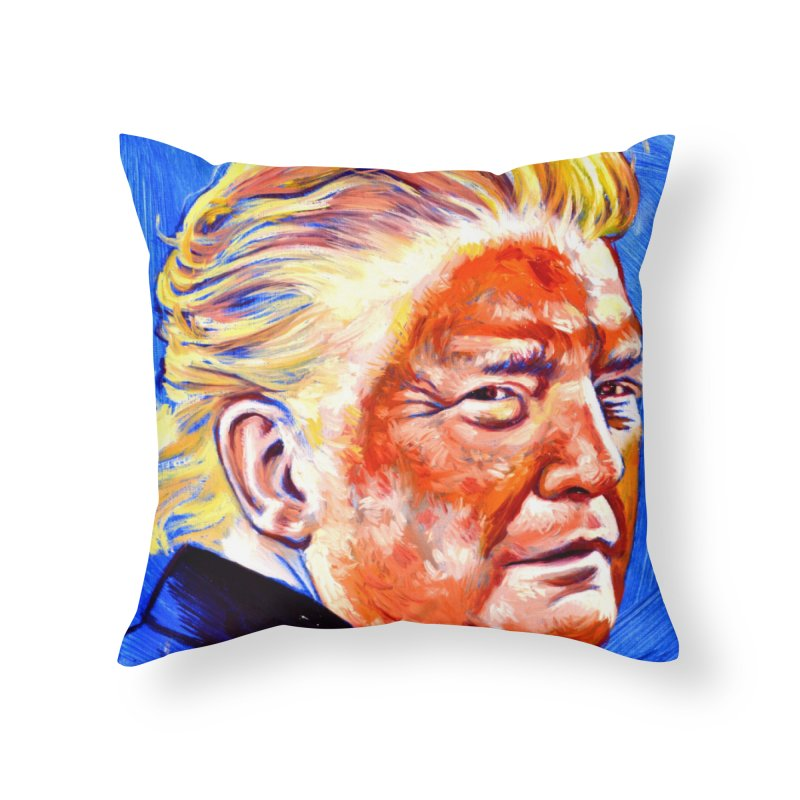 "orange Home Throw Pillow by Art Prints by Seama available under ""Home"""