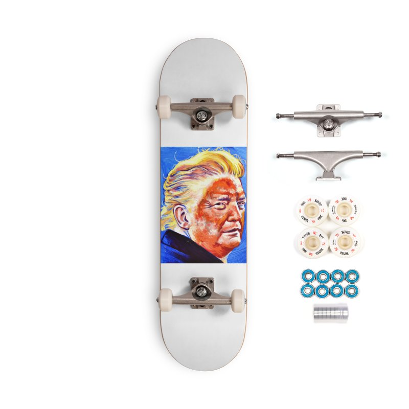 """orange Accessories Complete - Premium Skateboard by Art Prints by Seama available under """"Home"""""""