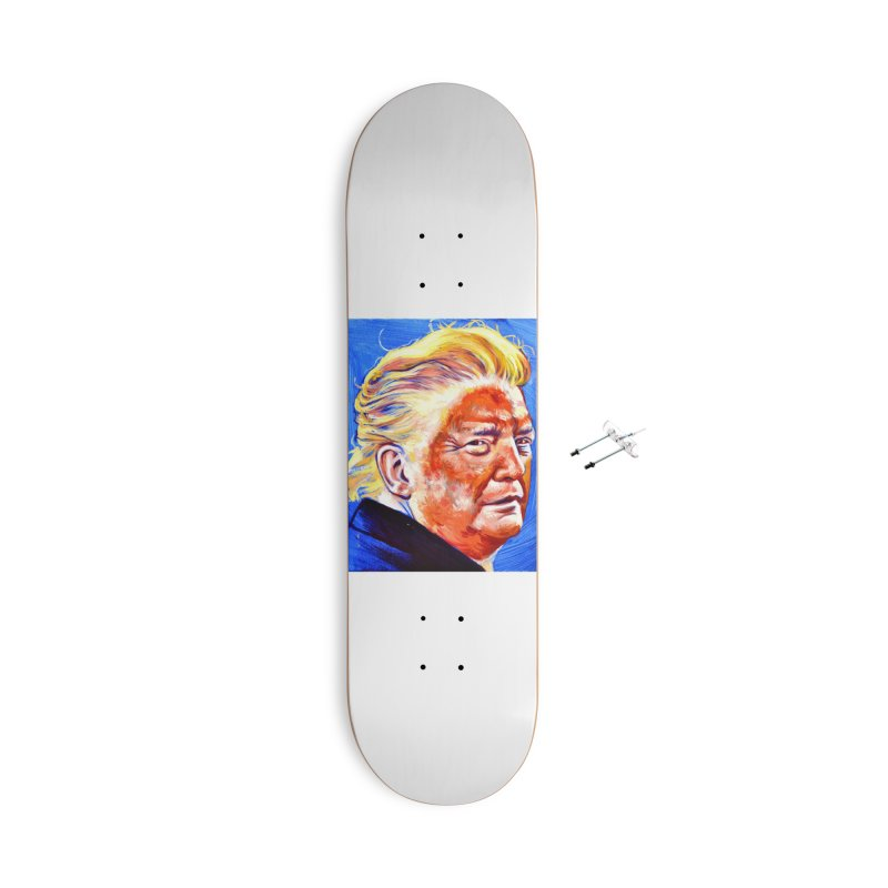 "orange Accessories With Hanging Hardware Skateboard by Art Prints by Seama available under ""Home"""