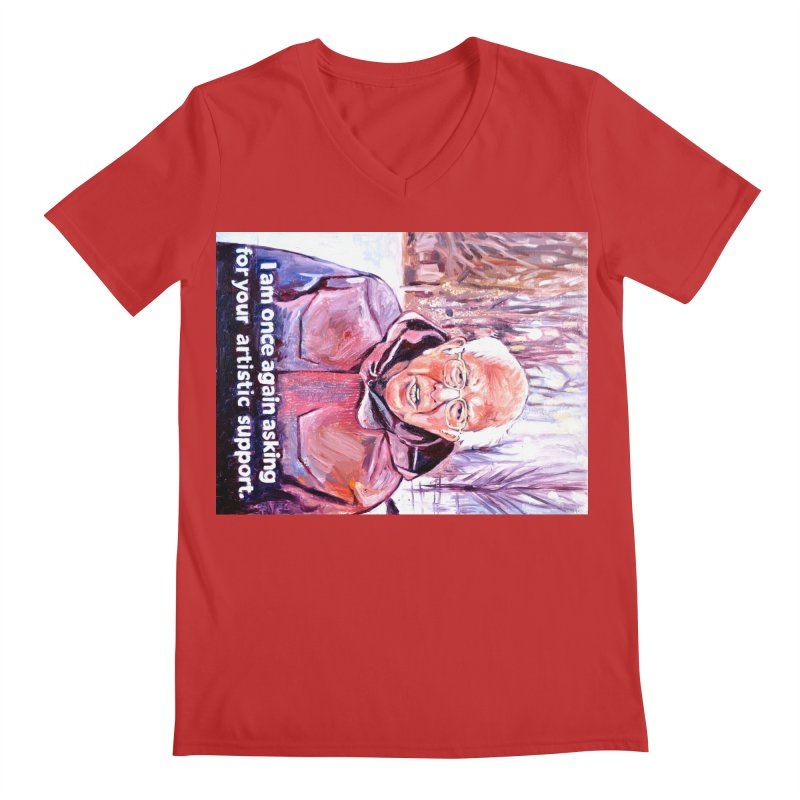 "bernie Men's Regular V-Neck by Art Prints by Seama available under ""Home"""