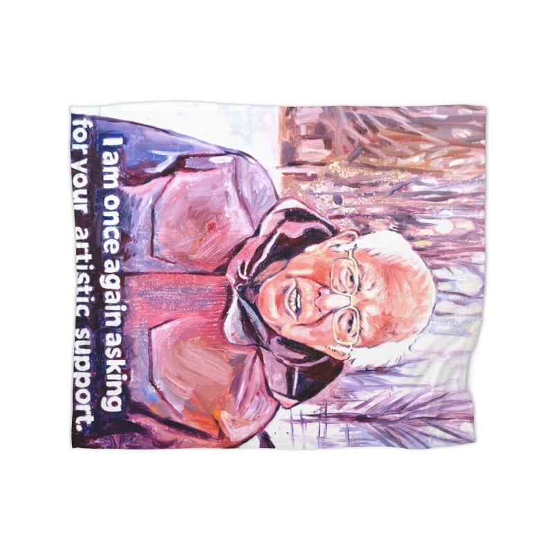 bernie Home Fleece Blanket Blanket by paintings by Seamus Wray