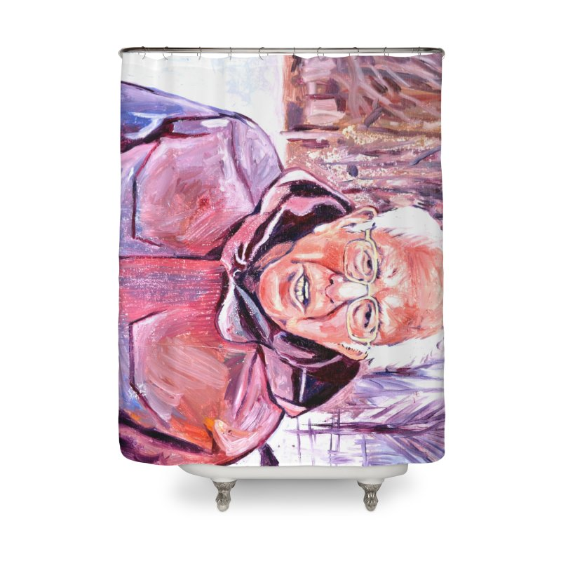 """bernie Home Shower Curtain by Art Prints by Seama available under """"Home"""""""