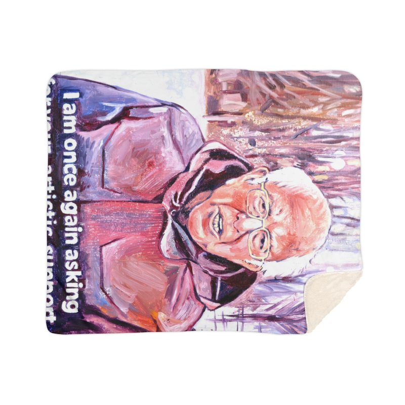 """bernie Home Sherpa Blanket Blanket by Art Prints by Seama available under """"Home"""""""
