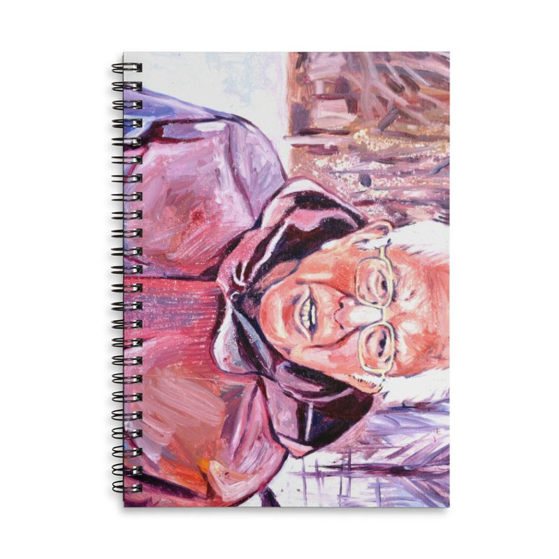 """bernie Accessories Lined Spiral Notebook by Art Prints by Seama available under """"Home"""""""