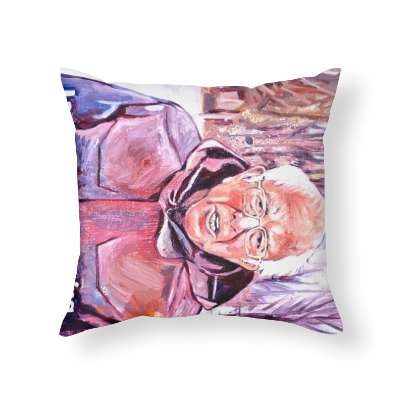 "bernie Home Throw Pillow by Art Prints by Seama available under ""Home"""