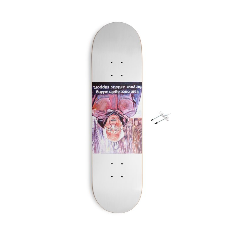 "bernie Accessories With Hanging Hardware Skateboard by Art Prints by Seama available under ""Home"""