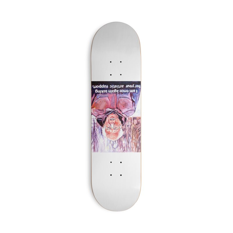 bernie Accessories Deck Only Skateboard by paintings by Seamus Wray