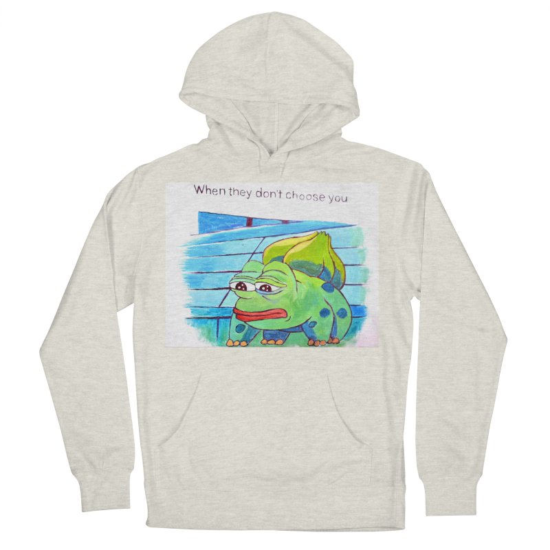 pepesaur Men's French Terry Pullover Hoody by paintings by Seamus Wray