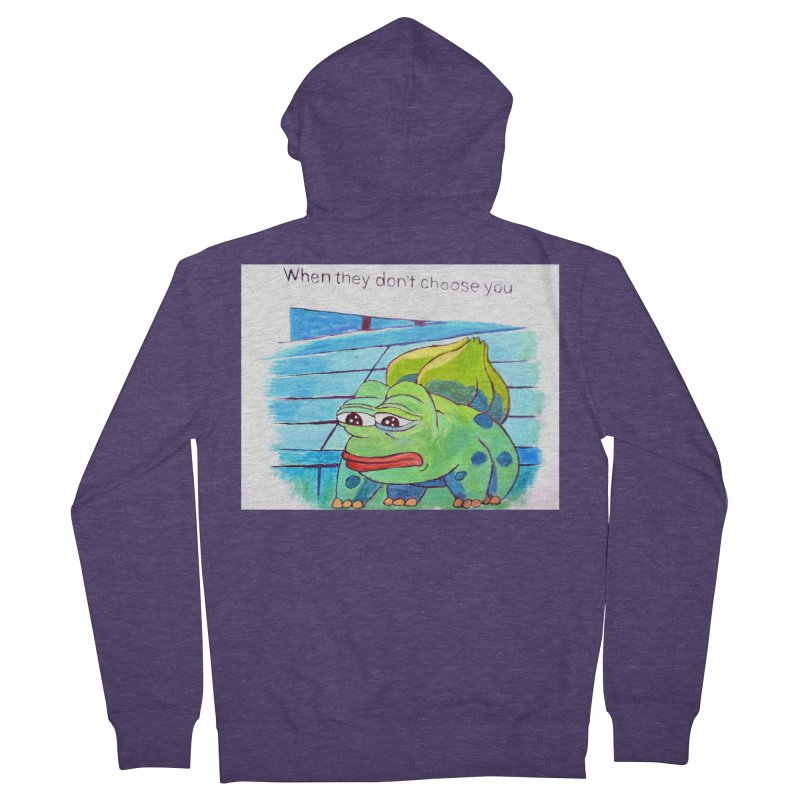 pepesaur Men's French Terry Zip-Up Hoody by paintings by Seamus Wray