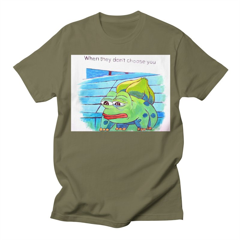 pepesaur Men's Regular T-Shirt by paintings by Seamus Wray