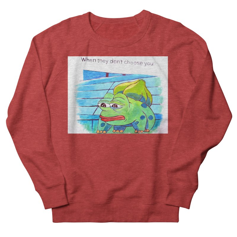 pepesaur Women's French Terry Sweatshirt by paintings by Seamus Wray