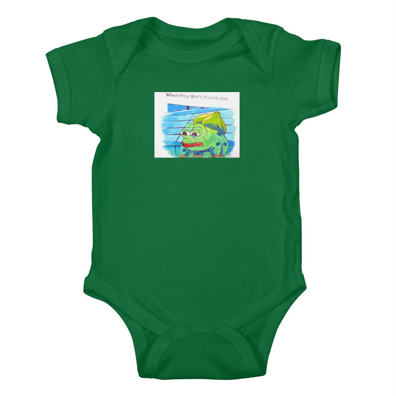 """pepesaur Kids Baby Bodysuit by Art Prints by Seama available under """"Home"""""""