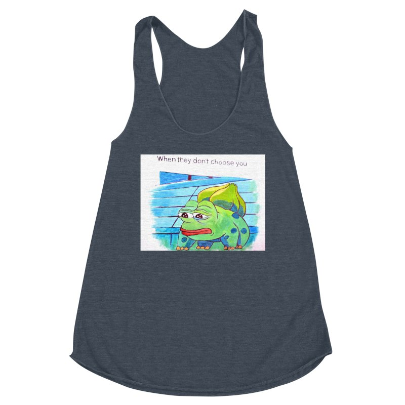 "pepesaur Women's Racerback Triblend Tank by Art Prints by Seama available under ""Home"""