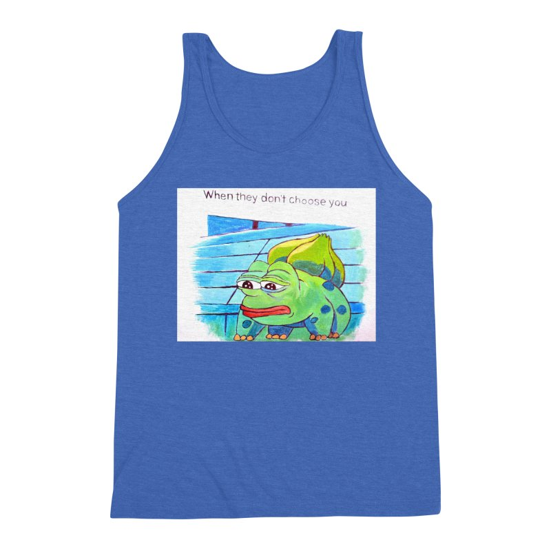 """pepesaur Men's Triblend Tank by Art Prints by Seama available under """"Home"""""""